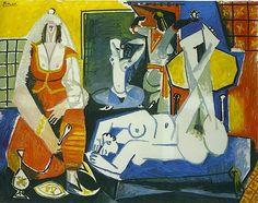 Pablo Picasso Les Femmes d'Alger (d'après Delacroix) 1955