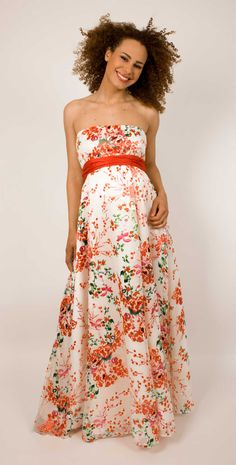 Clementine Floral #Maternity Gown (Long) by Tiffany Rose