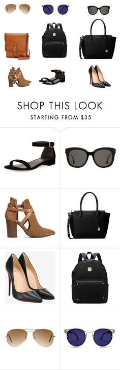"""""""BACK TO SCHOOL 3"""" by rpdiazmendo on Polyvore featuring moda, Stuart Weitzman, Gentle Monster, H London, MICHAEL Michael Kors, Christian Louboutin, Ray-Ban, Spitfire y Frye"""