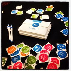 Check out the Moo schwag!! #agentrb @overheardatmoo #icsf