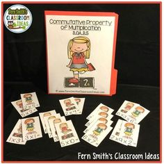 Commutative Property of Multiplication Task Cards, Recording Sheets, Printables and Center Bundle