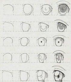 New Ideas Eye Tutorial Anime Drawing Reference Drawing Lessons, Drawing Tips, Drawing Reference, Drawing Drawing, Drawing Ideas, How To Draw Anime Eyes, Manga Eyes, Draw Eyes, Manga Mouth