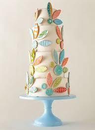 hand painted cookies on a cake - Google Search