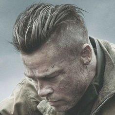 55 Ideas haircut men undercut brad pitt fury for 2019 Undercut Men, Undercut Hairstyles, Brad Pitt Hairstyles, Men's Hairstyle, Medium Hairstyles, Celebrity Haircuts, Haircuts For Men, Short Haircuts, Soldier Haircut
