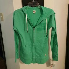 Toms zip up hoodie Teal blue never been worn with tag TOMS Jackets & Coats