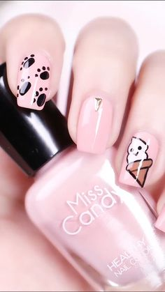 These Nail designs have clean, classy, minimalist style that you absolutely adore. These desaturated palettes are to deserve for. Nail Art Designs Videos, Nail Art Videos, Simple Nail Art Designs, Acrylic Nail Designs, Nail Designs For Kids, Diy Nail Designs, Pink Nail Art, Pink Nails, Cat Nails