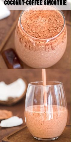 coffee videos Rich and creamy, this Coconut Coffee Smoothie, full of coconut-chocolate flavor, is a HEALTHY and DELICIOUS way to start your day! Cooktoria for more deliciousness! Raspberry Smoothie, Apple Smoothies, Healthy Smoothies, Healthy Drinks, Healthy Snacks, Healthy Recipes, Healthy Coffee Smoothie, Coffee Breakfast Smoothie, Coconut Smoothie