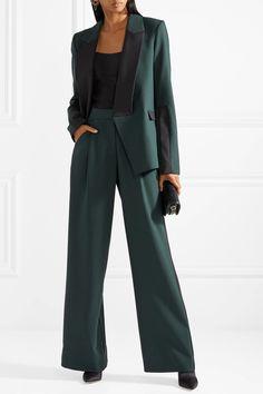 Dion Lee | Asymmetric wool-trimmed stretch-crepe blazer | NET-A-PORTER.COM