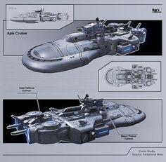 Apis Cruiser by KaranaK on DeviantArt Spaceship Art, Spaceship Design, Stargate Ships, Concept Ships, Game Concept, Concept Art, Starship Concept, Sci Fi Spaceships, Sci Fi Models