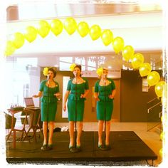 The Bugle Babes are suitably decked out in daffodils for the launch of this year's Daffodil Day, kindly supported by Dell. The Daffodil Day takes place on Friday, March Daffodil Day, Exciting News, 1940s Fashion, Nantucket, Daffodils, New Pictures, March, Product Launch, Friday