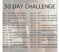 New 30 day challenge (squats and crunches)