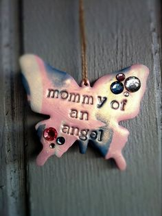 Pregnancy & Infant Loss Awareness Butterfly by cubasianchica, $14.00
