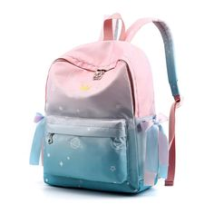 Scione Women Printing Backpacks Gradient Color School Bags For Teenage Girls School Shoulder Bags Waterproof Bookbag Mochila Outfit Accessories From Touchy Style.