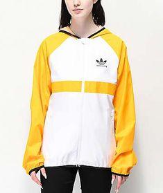 adidas Skate Orange   White Windbreaker Jacket 9f9090e81be