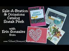 Occasions Catalog & Sale-A-Bration Sneak Peek Video on a few projects created with soon to be available products.