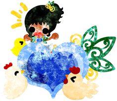 フリーのイラスト素材女の子とニワトリ  Free Illustration The cute girl and chickens   http://ift.tt/2hcLrcq