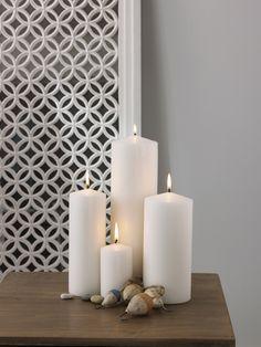 Pillar candles - from Lombok