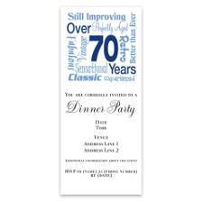 Google 70th Birthday Invitation Samples