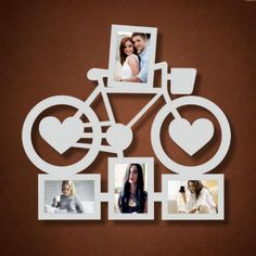 Ideas for wall design creative photo displays Wooden Art, Wooden Crafts, Diy And Crafts, Laser Cutter Projects, Laser Cutter Ideas, Birthday Photo Frame, Birthday Photos, Thermocol Craft, Family Wall Decor