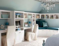 custom cabinetry system provides storage and desk spaces | Endia Veerman