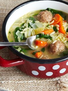 A delicious and hearty Italian Wedding Soup made in the slow cooker that kids will love.