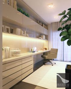 Bedroom desk white floors 50 Ideas for 2019 Home Office Space, Small Office, Home Office Desks, Office Furniture, Metal Building Homes, Bedroom Desk, Office Interiors, Design Case, New Homes