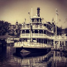 The Liberty Belle prepares for voyage at the Magic Kingdom. This relaxing riverboat ride takes guests on a cruise out and around Tom Sawyer's island and back. This is a nice attraction to sit down and take your mind off the hustle and bustle of Walt Disney World's most popular park...   #waltdisneyworld #waltdisney #wdw #magickingdom #disneyig #disneygram #disney #disneyfan #disneyworld #disneyland #disneymom #travelphotography #travelgram #travelingram #orlando #mickeymouse #mickey #sepia…