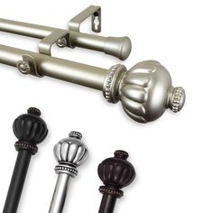 trend sandro 1 inch adjustable double curtain rod 160 to 240 inch mahogany brown metal