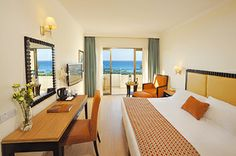 The Elias Beach Hotel is a luxurious seafront hotel overlooking a 'Blue Flag' sandy beach in the ancient Amathus area, only a short drive from the entertainment area and city centre of the cosmopolitan town of Limassol.