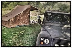 //Baker Tent / Campfire Tent, Land Rover camp