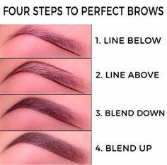 Makeup tips for beginners perfect brewing . - Make-up tips for beginners perf. - Makeup tips for beginners perfect brewing … – Make-up tips for beginners perfect brows idea - Eyebrow Makeup Tips, Makeup Guide, Contour Makeup, Skin Makeup, Makeup Ideas, Makeup For Eyebrows, Makeup Tips Contouring, Basic Eye Makeup, Hazel Eye Makeup