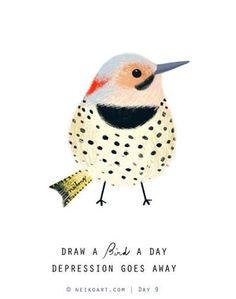 Illustration Bird Day Love the dots! Watercolor Bird, Watercolor Paintings, Art Paintings, Watercolor Artists, Indian Paintings, Watercolor Portraits, Watercolor Landscape, Abstract Paintings, Bird Drawings