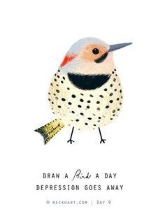 Illustration Bird Day Love the dots! Bird Drawings, Animal Drawings, Art Paintings, Watercolor Paintings, Watercolor Artists, Indian Paintings, Watercolor Portraits, Abstract Paintings, Vogel Illustration