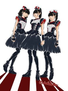"Awesome fanart by イチキタ(1KITa)‏@ichikitaa     ""#BABYMETAL  #SU_METAL  #YUIMETAL  #MOAMETAL""    https://twitter.com/ichikita/status/710050590638809088"