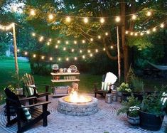 festoon lights in courtyard garden - Google Search