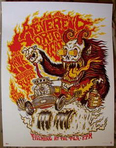 Reverend Horton Heat with Hank III and Nashville Pussy (Philadelphia) by Jim Mazza (via Gig Posters)