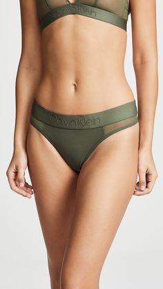 65f658bf429f9 Calvin Klein Underwear Tonal Logo Thong Calvin Klein Bralette Outfit