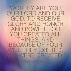 Glory to God!
