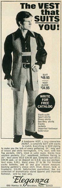Eleganza Vest, 1970