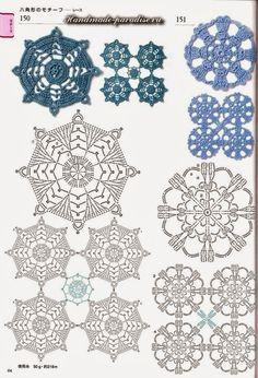 1000 images about uncinetto rosoni piastrelle bordi on pinterest granny squares free - Piastrelle esagonali uncinetto ...
