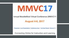 Moodle MOOT Virtual Conference is an annual live online event that takes place in August. The annual MoodleMoot Virtual Conference for 2017 will take place from August 2017 on MoodleMoot Moodle learning environment. The theme of Connect Online, Learning Environments, Conference, Presentation, Live, Learning Spaces