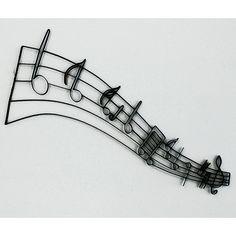 Metal Wall Art Musical Notes