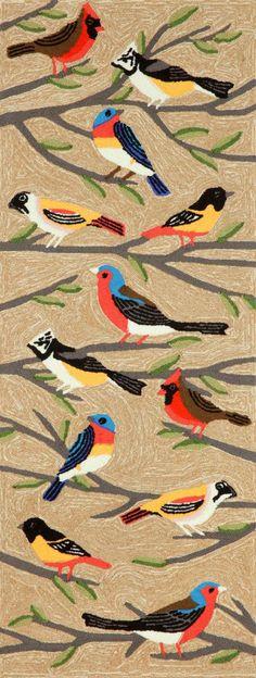 Birds in a tree area