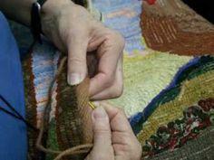 How To Do The Herringbone Edge Finishing Sherrie B Hooked Rugs