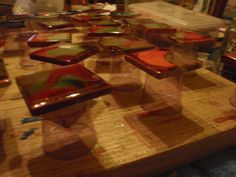 Coating Alcohol Ink Tiles with Resin