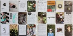 I like the look of making a grid with neutral journal cards and photos.