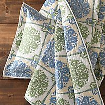 organic cotton nantucket block quilt and shams