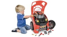The Car Lover's Engine Repair Set from Hammacher Schlemmer is a toy car that lets kids pop the hood, change the oil, and tinker with the engine. Hammacher Schlemmer, Theo Klein, The Wombats, Baby Kids, Baby Boy, Fun Baby, Engine Repair, Car Repair, Car Engine