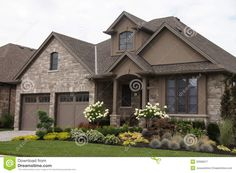 stucco homes | Stucco Stone House Pretty Garden Royalty Free Stock Photography ...