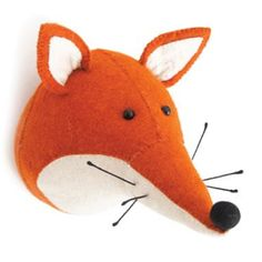 With his pointed ears, handsome set of whiskers and beady black eyes, this foxy friend is sure to be loved by adults and children alike.